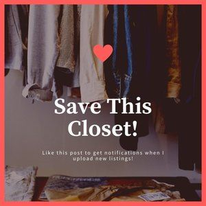 Save This Closet For Notifications On New Listings